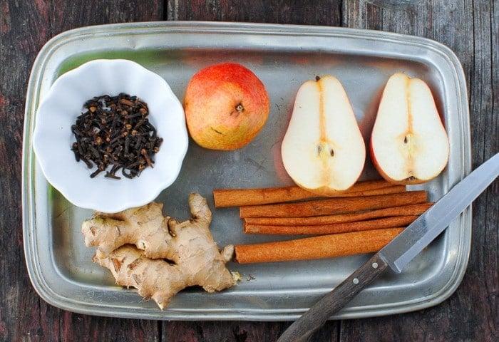 DIY Homemade Spiced Pear Vodka Ingredients