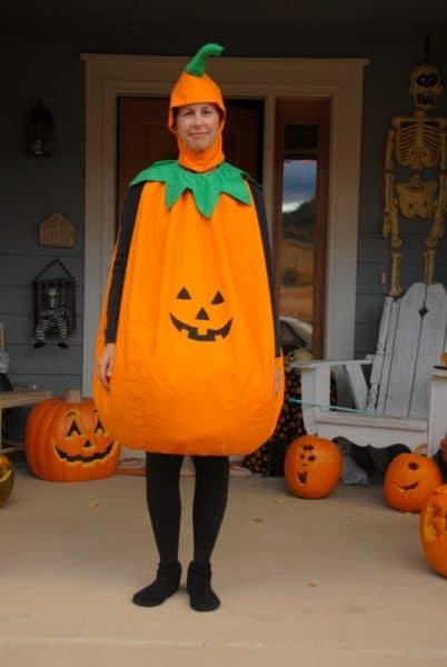 adult in jackolantern costume