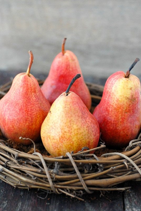 Fall Red Bartlett Pears