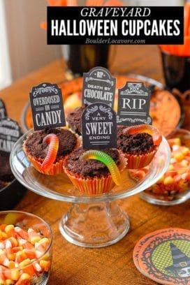 Graveyard Halloween Cupcakes title image