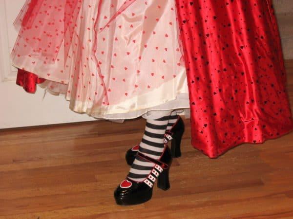 queen of hearts platform shoes