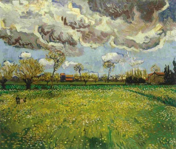 LNdscape under a stormy sky