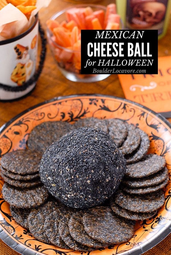Mexican Cheese Ball Halloween Appetizer title image