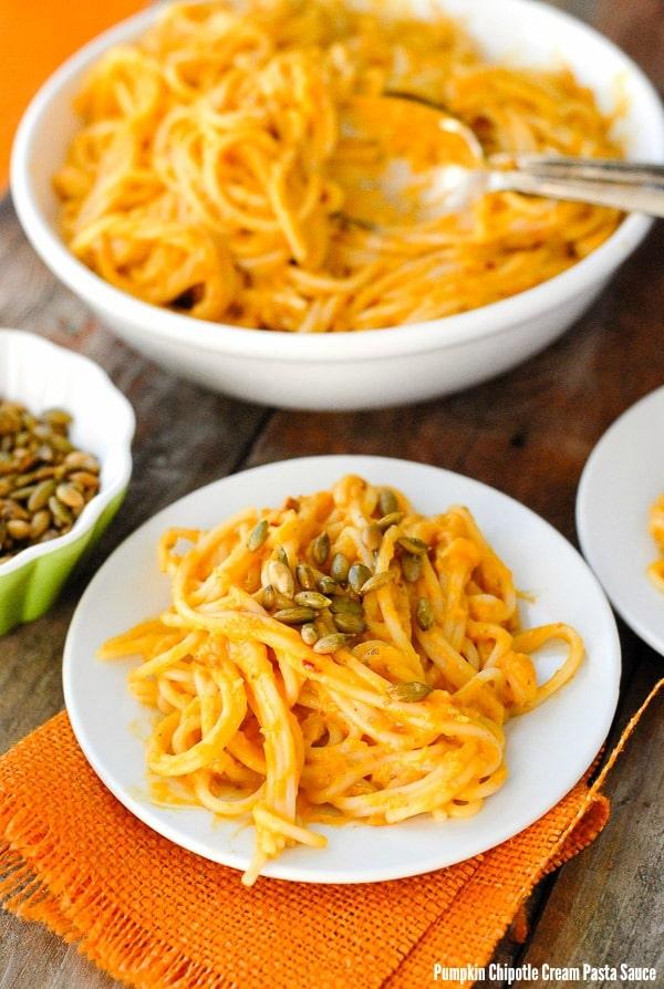 Pumpkin Chipotle Cream Pasta Sauce