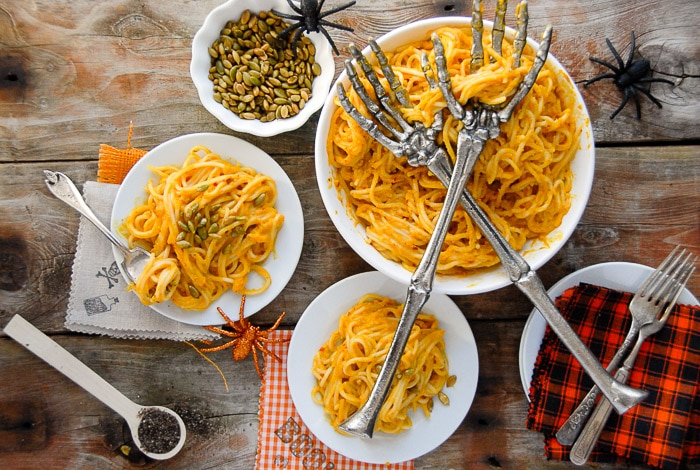Pumpkin Chipotle Cream Pasta Sauce. Smoky, spicy, creamy pasta sauce with a light pumpkin flavor perfect for fall! | BoulderLocavore.com