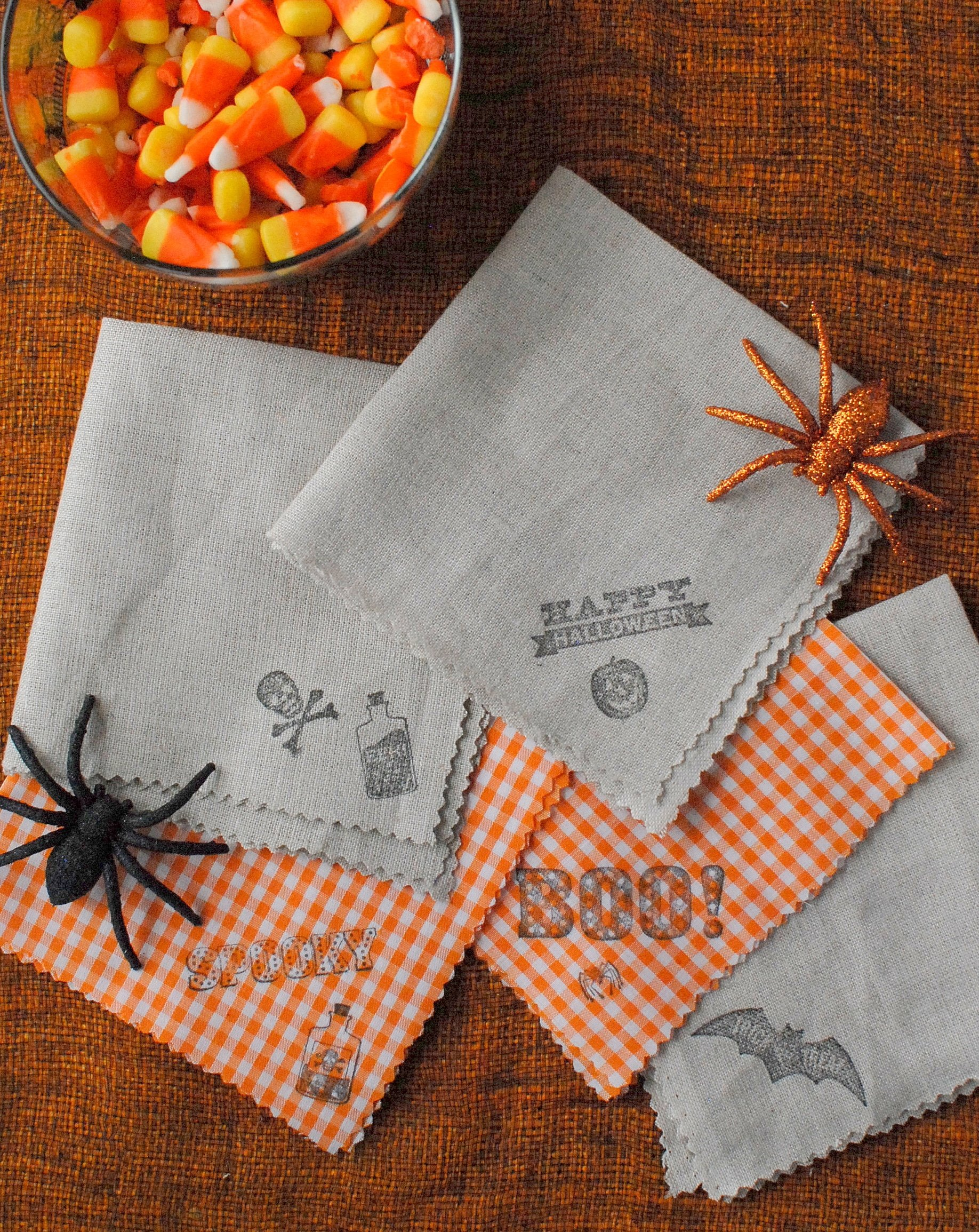 Halloween DIY homemade cocktail napkins BoulderLocavore.com