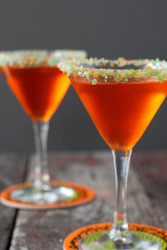 Candy Corn Vodka Martini