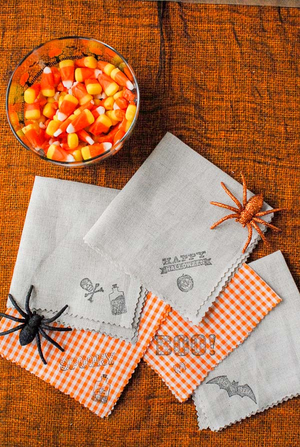 diy halloween cocktails napkins