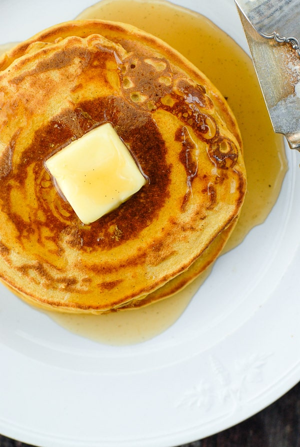 pumpkin pancakes with ginger syrup
