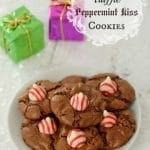 Chocolate Truffle Peppermint Kiss Cookies {gluten free}