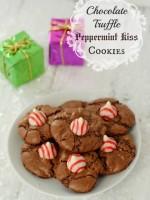 Chocolate Truffle Peppermint Kiss Cookies gluten-free | BoulderLocavore.com