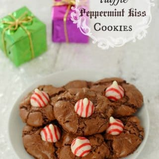 Chocolate Truffle Peppermint Kiss Cookies gluten-free | BoulderLocavore.com
