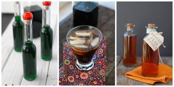Glass of homemade coffee liqueur