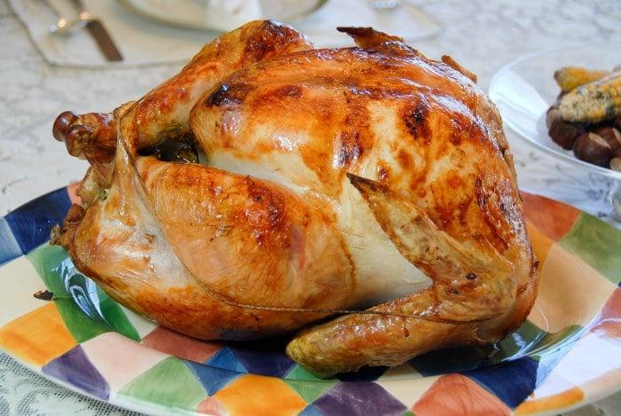 Thanksgiving Turkey On colorful platter