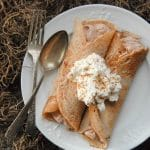 Italian Chestnut Crepes with Nutella Cream filling {gluten free}