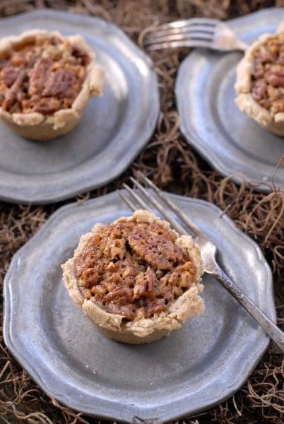 Mini Spicy Crust Bourbon Pecan Pies