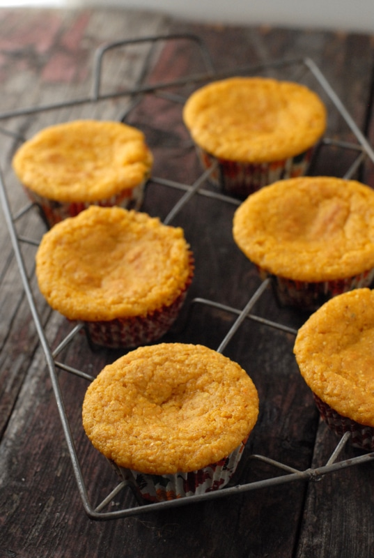 Pumpkin Cornbread Muffins with Whipped Honey-Maple Cinnamon Butter | BoulderLocavore.com
