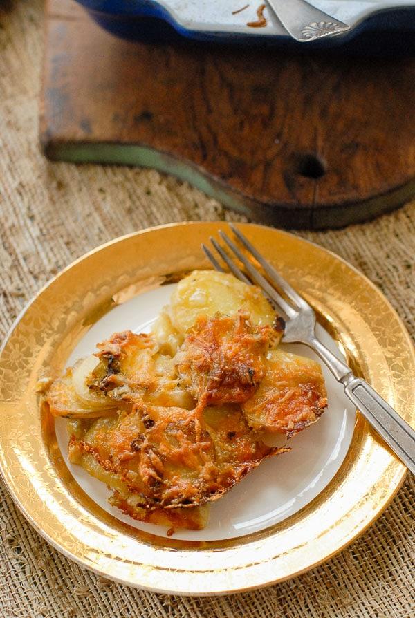 green chile au gratin potatoes serving