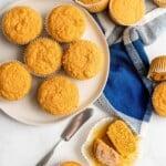 pumpkin cornbread muffins title