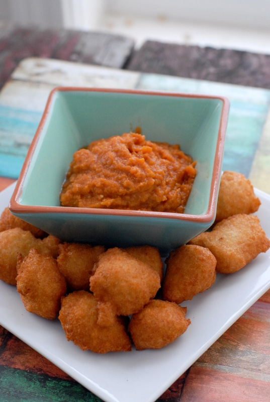 For New Year's Luck: Black-Eyed Pea Fritters with Hot Sauce {Akara}