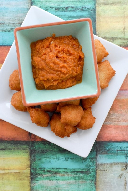 Black Eyed Pea Fritters with Hot Sauce (Akara) BoulderLocavore.com