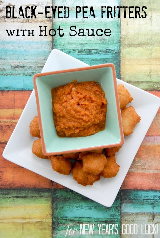 Black Eyed Pea Fritters with Hot Sauce {Akara} New Year Good Luck BoulderLocavore.com