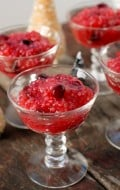 Cranberry Tapioca with Orange-Nutmeg Whipped Cream