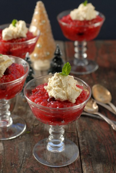 Cranberry Tapioca with Orange-Nutmeg Whipped Cream