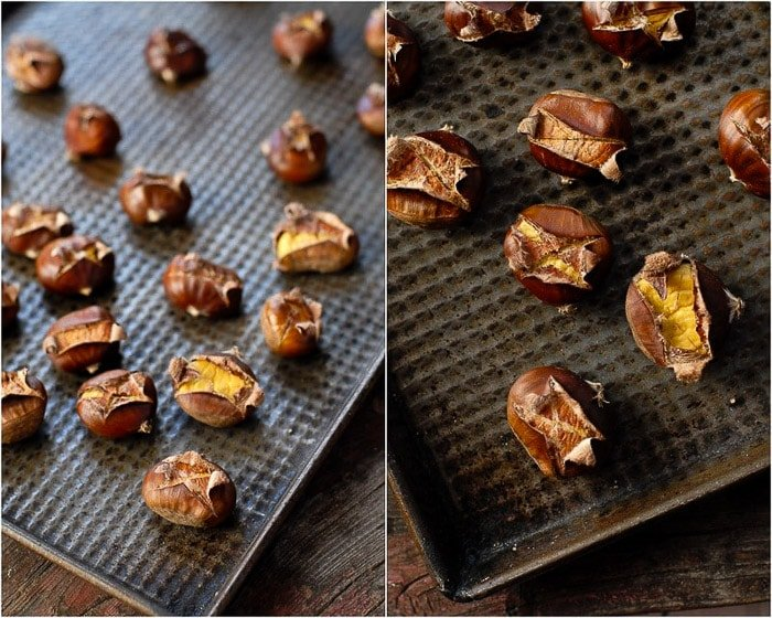 Baking sheet of Roasting Chestnuts