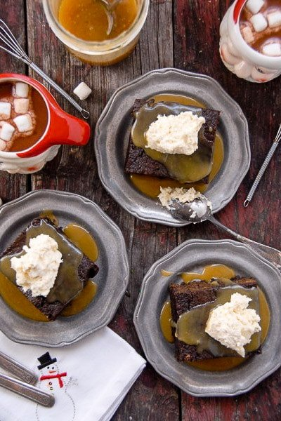 Gingerbread Cake with Butter Rum Toffee sauce