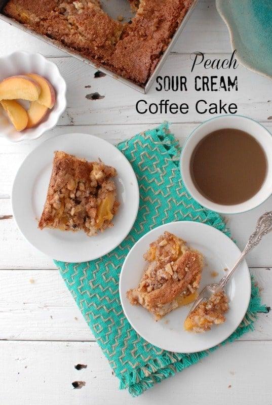 Peach Sour Cream Coffee Cake BoulderLocavore.com