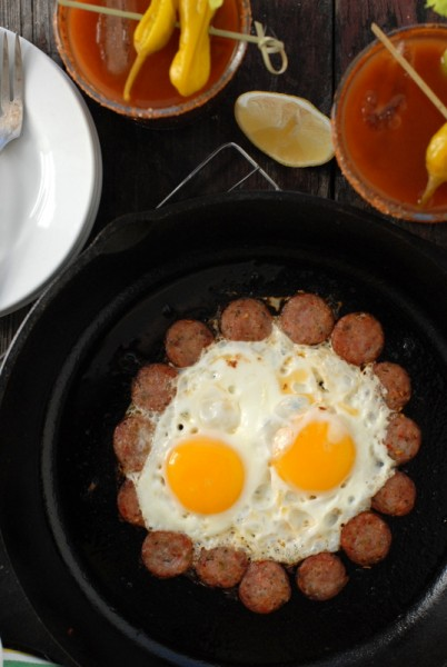 The Ring of Fire can be made with eggs Over Easy or Sunny Side Up; your choice.