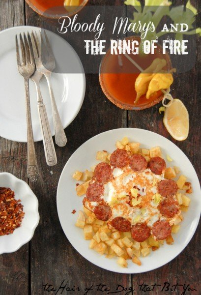 Ring of Fire eggs sausage and Bloody Marys BoulderLocavore.com