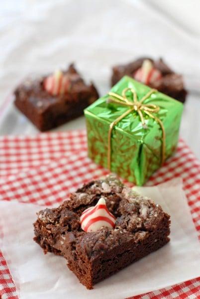 Buried Treasure Mint Brownies close up