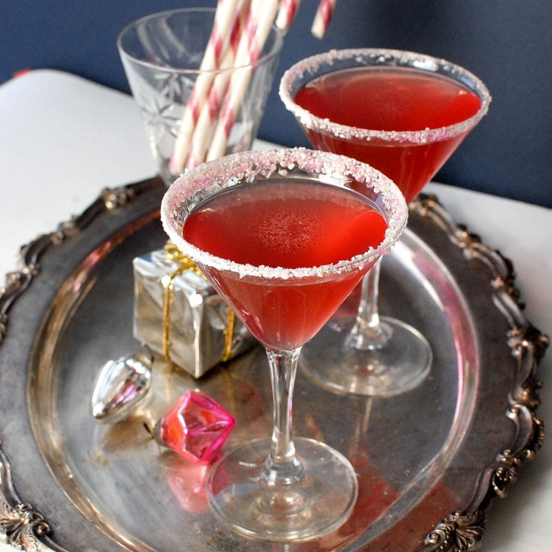 Homemade Candy Cane Vodka and Candy Cane Cocktail