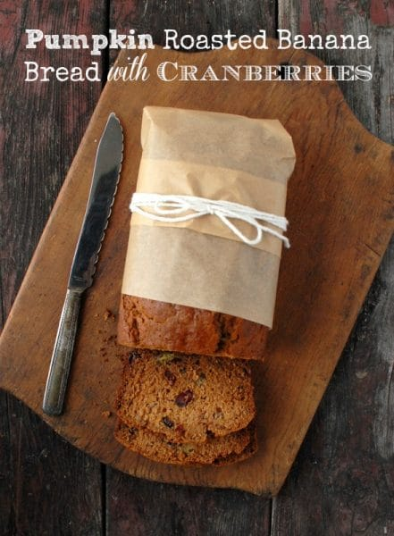 Pumpkin Roasted Banana Bread with Cranberries BoulderLocaovre.com