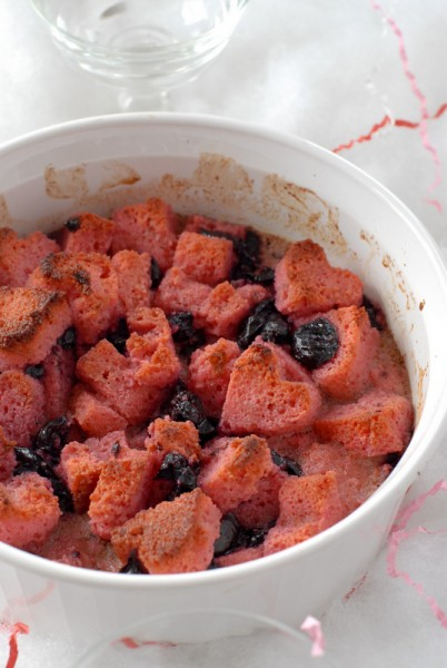 Cherry Pound Cake Bread Puddng