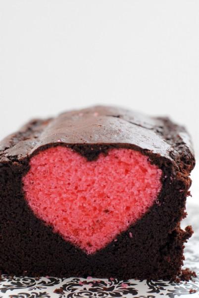 Cherry Pound Cake heart BoulderLocavore.com
