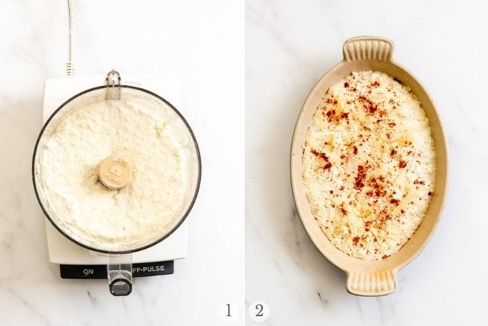 Creamy Hot Artichoke Dip steps collage