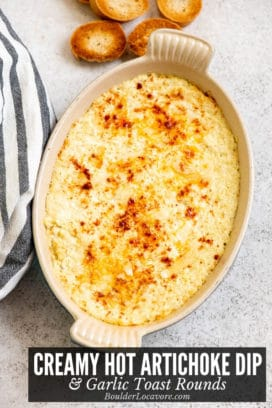 Creamy Hot Artichoke Dip title image