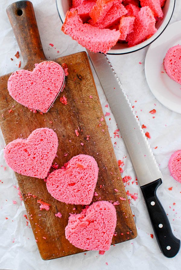 pink pound cake hearts