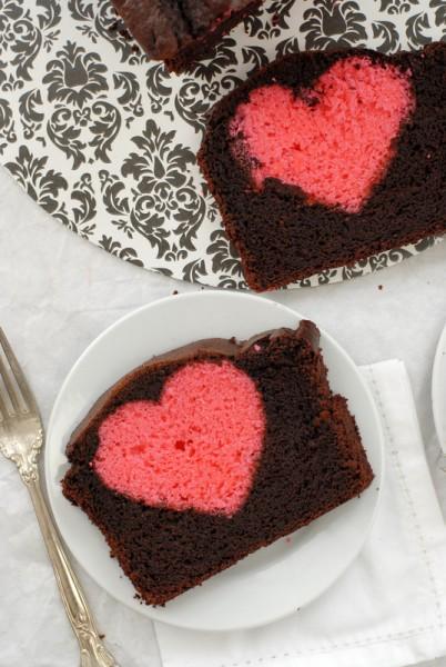 Hidden Heart Valentine's Pound Cake heart BoulderLocavore.com