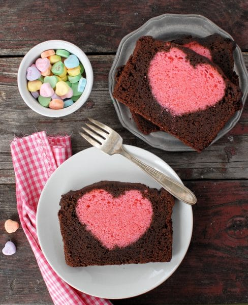 Valentines Heart Pound Cake, Valentines cake with a heart in the slices