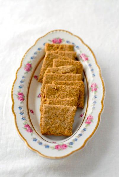 Mrs. Patmore\'s Rosemary Oat Crackers