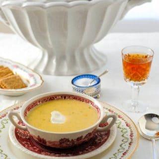 Saxe-Coburg Soup (Brussels sprouts, onion, potato)
