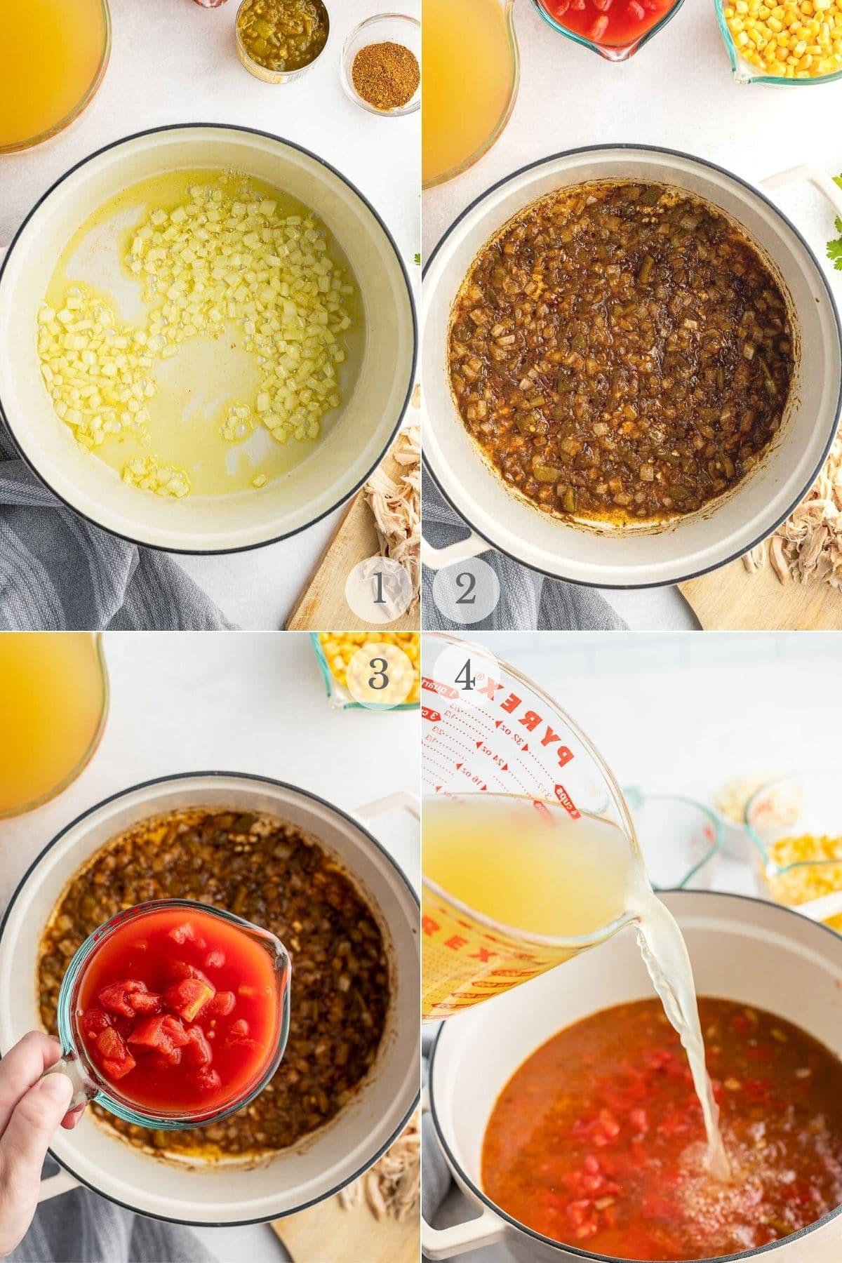 chicken tortilla soup recipes steps 1-4