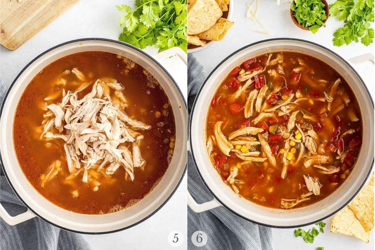 chicken tortilla soup recipes steps 5-6
