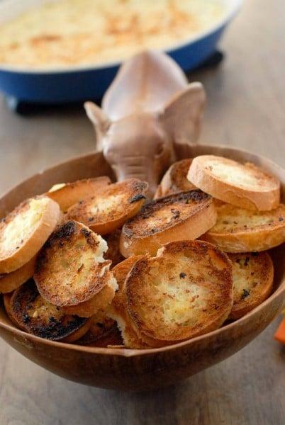 gluten free Garlic Toast rounds BoulderLocavore.com