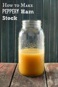 jar of peppery ham stock