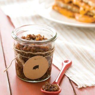 Bacon jam in jar